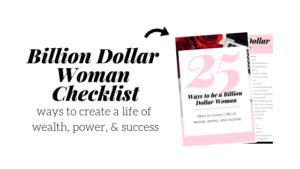 billion dollar woman checklist pdf